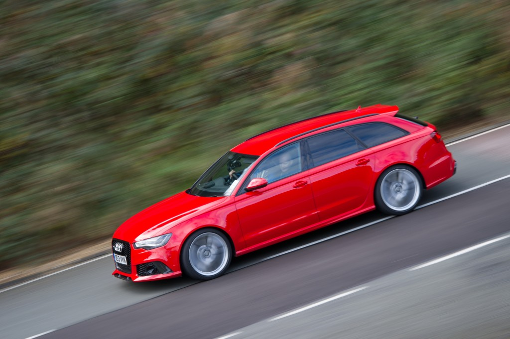 Audi RS6 at Milbrook proving ground
